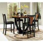Coaster Boyer 5 Piece Counter Height Dining Set in Black and Cherry - Walmart.com