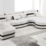 Cool White Leather Sectional Chaise Furniture Modern White Leather Chaise Sectio...