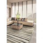 Covina Striped Handmade Cowhide Gray Area Rug