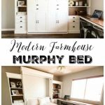 DIY Modern Farmhouse Murphy Bed - How To Build the Bed and Bookcase