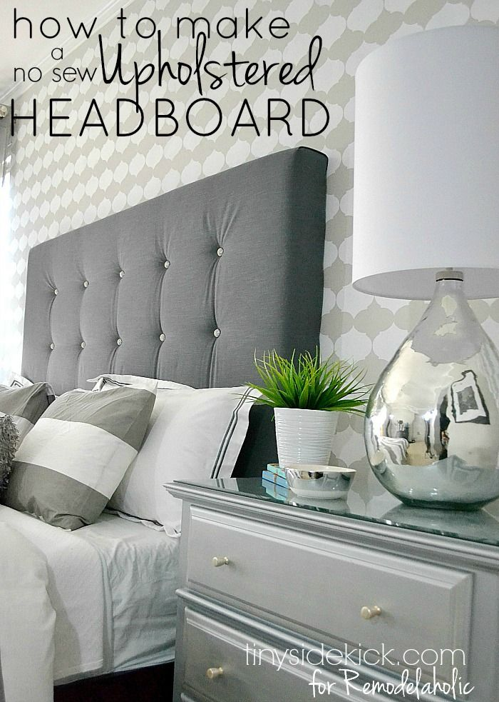 DIY Upholstered Headboard Tutorial – TinySidekick.com for Remodelaholic