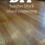 DIY butcher block island countertop using a sheet of cabinet-grade plywood. #Woo...