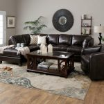 Devon Sectional | Taupe Leather Sectional Sofa with Chaise