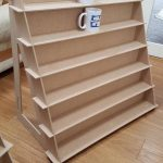 Display Stand - Flat packing - designed for Mug sized items. Very strong and stable.  Ideal for craft fairs & markets.