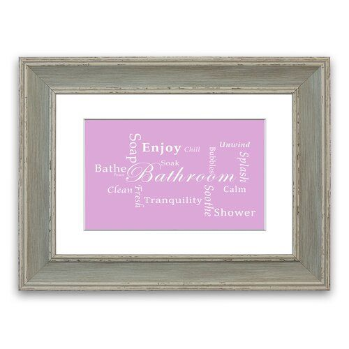 East Urban Home 'Bathroom Tranquility' Framed Typography in Pink | Wayfair.co.uk