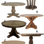 FARMHOUSE DECOR: THE RUSTIC ROUND DINING TABLE – 8 OPTIONS UNDER $650