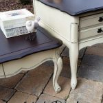 French Provincial Painted and Refinished Coffee Table Set Annie Sloan Chalk Pain...