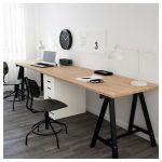 GERTON Table - beech, black white - IKEA
