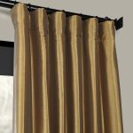 Gold Nugget Faux Silk Taffeta Curtains