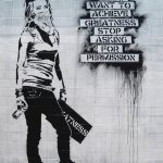 Graffiti If You Want To Achive Greatness, not Banksy, Extra Large Metal Art Wall Print, Photo on Metal, Street Art, Grunge Style Home Art