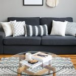 Gray sofa Living Room Decor Unique Black and Gray Living Rooms What Color Rug Go...
