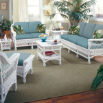 Harbor Front 6 Pc Living Room HF by Designer Wicker - American Rattan Furniture -