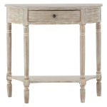 Heritage Console Table Half Moon 1 Drawer
