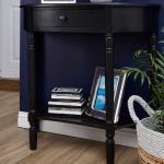 Heritage Console Table, Half Moon / Black, 1 Drawer