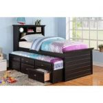 Hillam Captain Twin Bed with Trundle and Drawers
