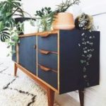 Home Decorating Ideas Farmhouse Painted mid century modern furniture 54