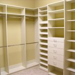 Image of: build corner closet shelves