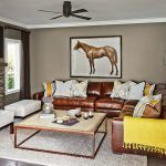 Italian leather sofa living room contemporary with gray couch throw pillows  #c ...