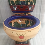 Mexican Painted Toilet Southern Style