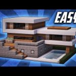 Minecraft einfaches modernes Haus-Design #Furniturediyeasy