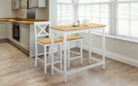 New Julian Bowen Marlow Bar Set – Ivory and Oak – Free Delivery. Dining Furnitur…