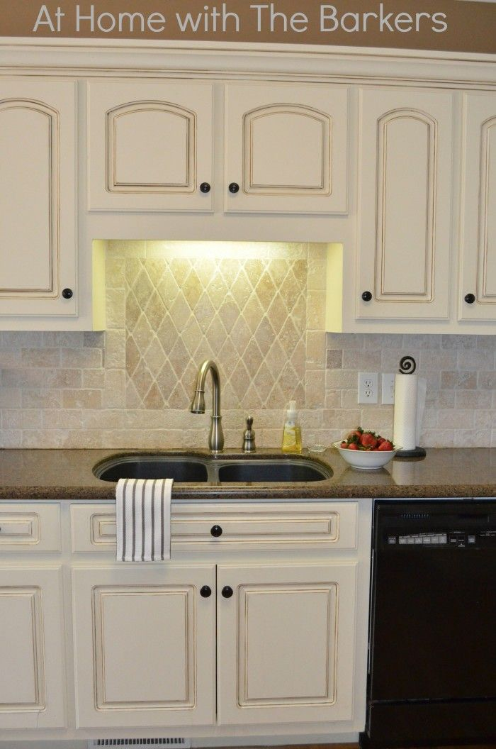 Painted Kitchen Cabinets Tutorial – At Home With The Barkers