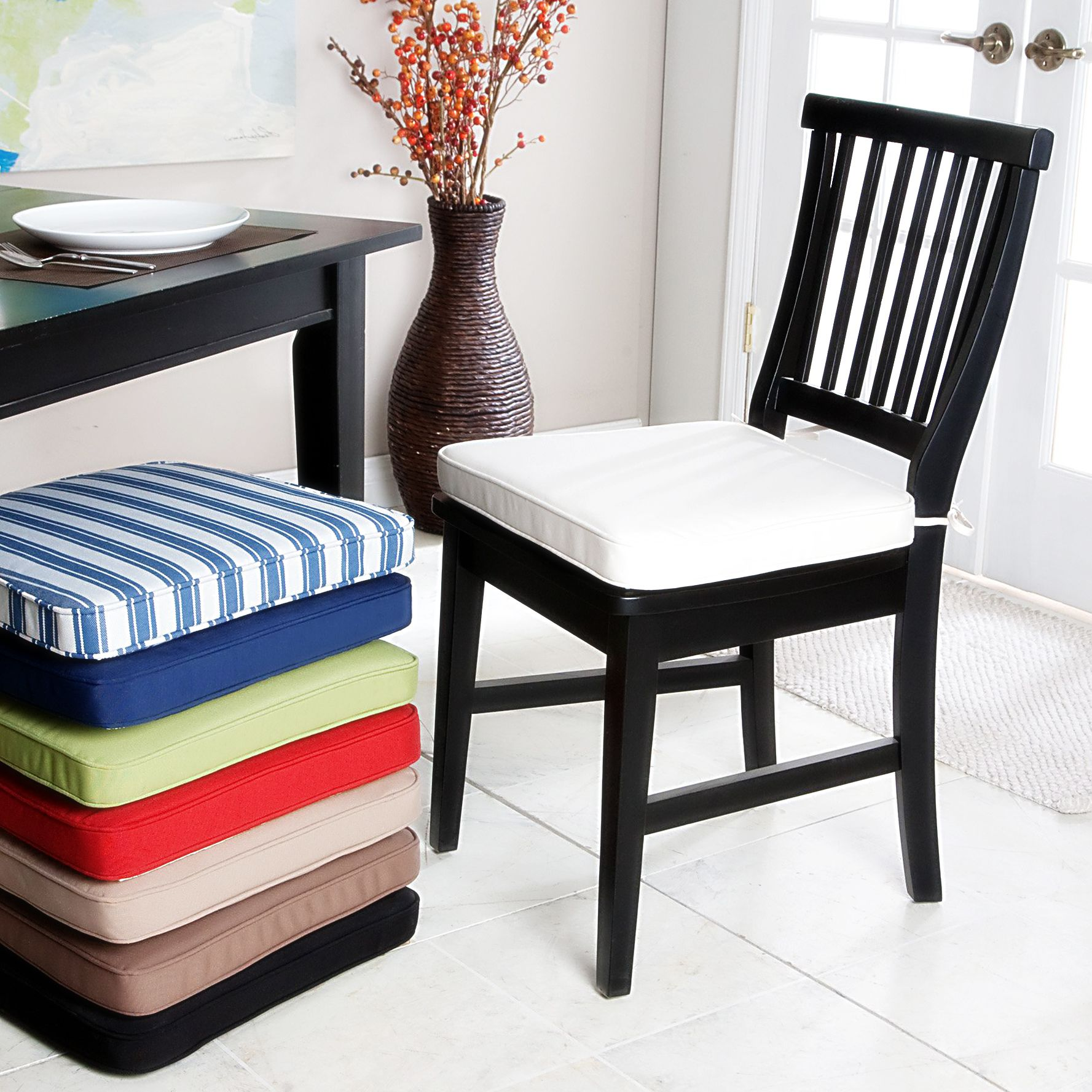 Picture of Kitchen Chair Cushions with Ties