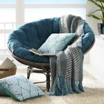 Plush Teal Papasan Cushion