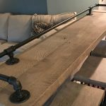 Reclaimed Barn Wood Sofa Bar Table - 6ft - Restaurant Counter Community Cafe Coffee Conference Office Meeting Pub High Top