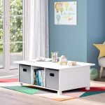 RiverRidge Home Kids White 6-Cubby Storage Activity Table 02-165 - The Home Depot