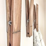 "SUPER HUGE Jumbo Rustic 12"" Decorative Clothespin in Walnut Finish, Photo Note Holder for Home Office, Kids Drawing Display, Bathroom Hooks"