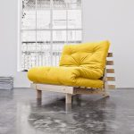Sofa Bed - Yellow