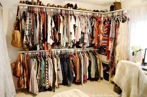 Spare Bedroom turned Walk in closet.