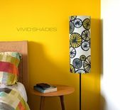 Tall lampshade with floor lamp option funky retro genuine Scandinavian fabric ha…