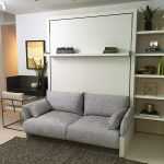 The Nuovoliola 10 is a self-standing, queen size wall bed with a two seat sofa t...
