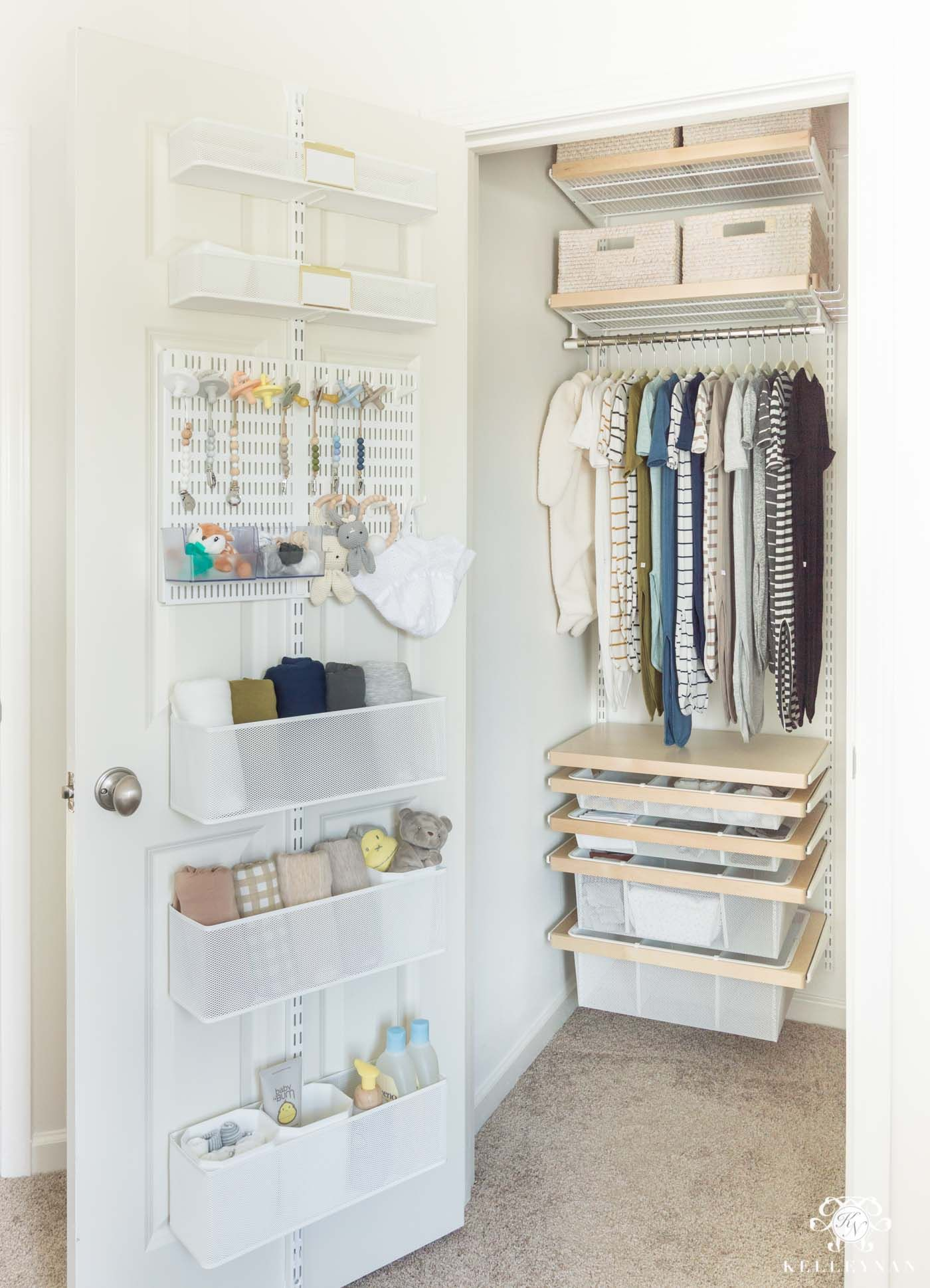 The Nursery Closet: Planned and Organized to the Max! | Kelley Nan