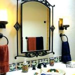 Wall Mirrors ~ Iron Framed Wall Mirrors Mirror Cast Hanging Wrought ...