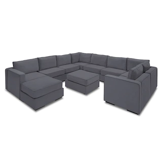 Wrap-Around Modular Sectional Couch