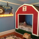 a barn bed is an adorable option for a rustic room