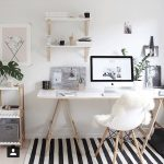 black and white striped rug & white and bright everything else #WhiteRugs