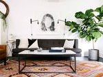dark grey sofa metal coffee table marble countertop small living room layout#des...