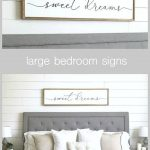 sweet dreams sign | bedroom wall decor | master bedroom decor | wood framed sign | bedroom wall art | master bedroom sign